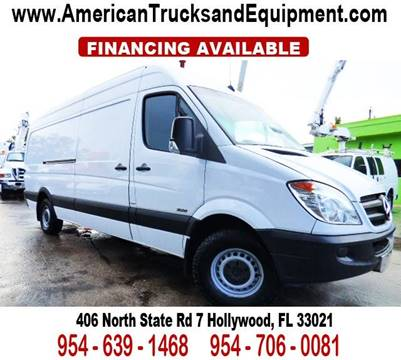 2012 Mercedes-Benz Sprinter Cargo for sale at American Trucks and Equipment in Hollywood FL
