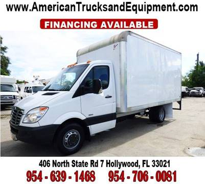2011 Freightliner Sprinter 3500 for sale at American Trucks and Equipment in Hollywood FL