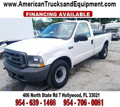 2003 Ford F-350 Super Duty for sale at American Trucks and Equipment in Hollywood FL