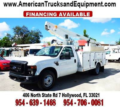 2008 Ford F-350 for sale at American Trucks and Equipment in Hollywood FL