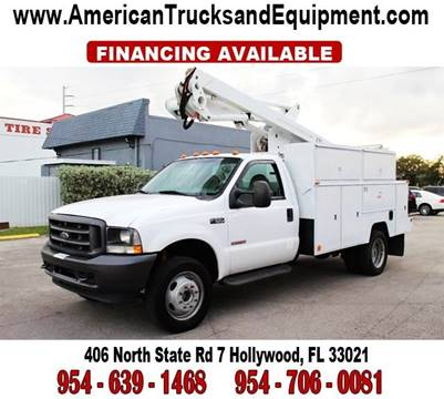 2003 Ford F-550 for sale at American Trucks and Equipment in Hollywood FL