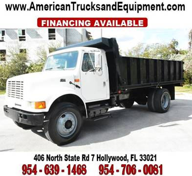 2001 International 4700 for sale at American Trucks and Equipment in Hollywood FL