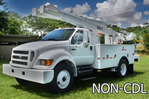 Utility Trucks For Sale >> 2007 Ford F 750 Super Duty For Sale In Hollywood Fl
