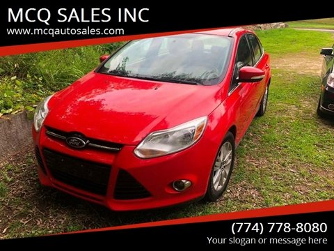 2012 Ford Focus for sale at MCQ SALES INC in Upton MA