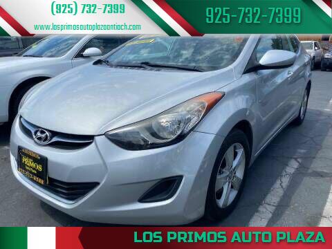 2013 Hyundai Elantra for sale at Los Primos Auto Plaza in Antioch CA