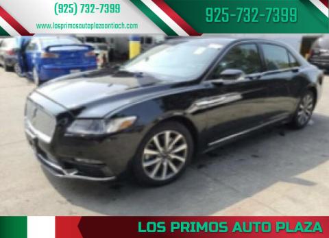 2017 Lincoln Continental for sale at Los Primos Auto Plaza in Antioch CA