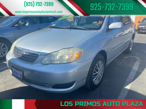 2007 Toyota Corolla for sale at Los Primos Auto Plaza in Antioch CA