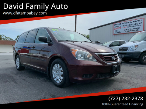 2009 Honda Odyssey for sale at David Family Auto in New Port Richey FL