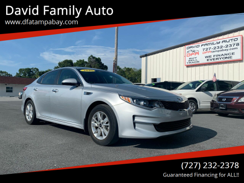 2016 Kia Optima for sale at David Family Auto in New Port Richey FL
