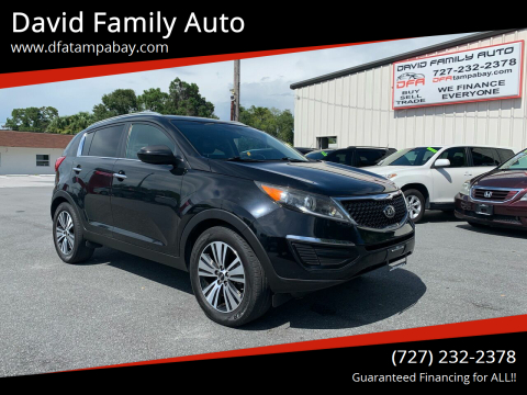 2016 Kia Sportage for sale at David Family Auto in New Port Richey FL