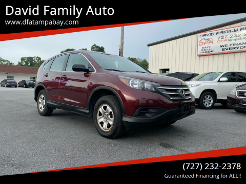 2013 Honda CR-V for sale at David Family Auto in New Port Richey FL