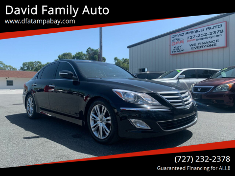 2012 Hyundai Genesis for sale at David Family Auto in New Port Richey FL