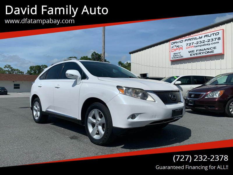 2010 Lexus RX 350 for sale at David Family Auto in New Port Richey FL