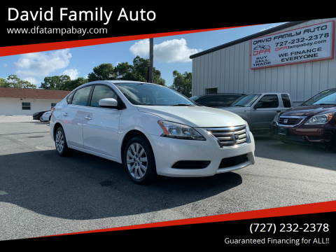 2014 Nissan Sentra for sale at David Family Auto in New Port Richey FL