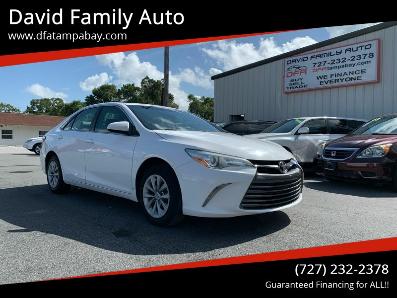 2015 Toyota Camry for sale at David Family Auto in New Port Richey FL