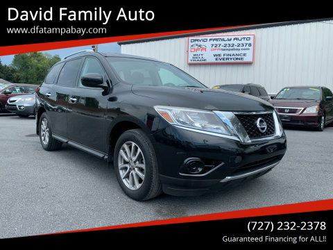 2015 Nissan Pathfinder for sale at David Family Auto in New Port Richey FL