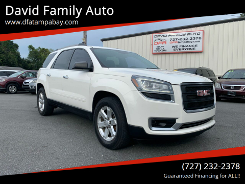 2014 GMC Acadia for sale at David Family Auto in New Port Richey FL