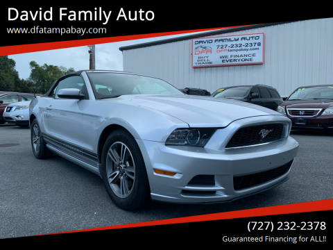 2013 Ford Mustang for sale at David Family Auto in New Port Richey FL