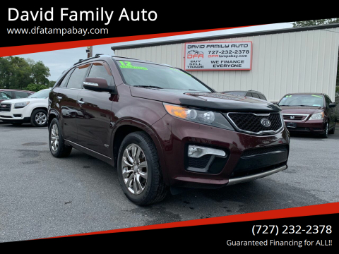 2012 Kia Sorento for sale at David Family Auto in New Port Richey FL