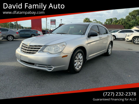 2008 Chrysler Sebring for sale at David Family Auto in New Port Richey FL
