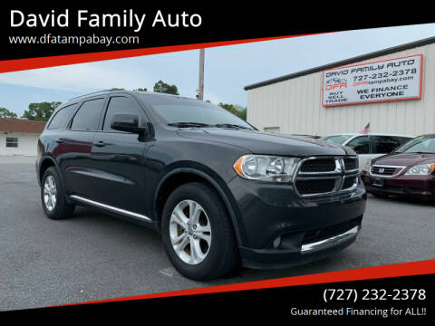2011 Dodge Durango for sale at David Family Auto in New Port Richey FL