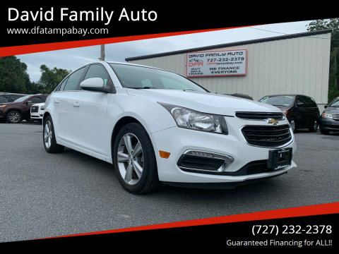 2015 Chevrolet Cruze for sale at David Family Auto in New Port Richey FL