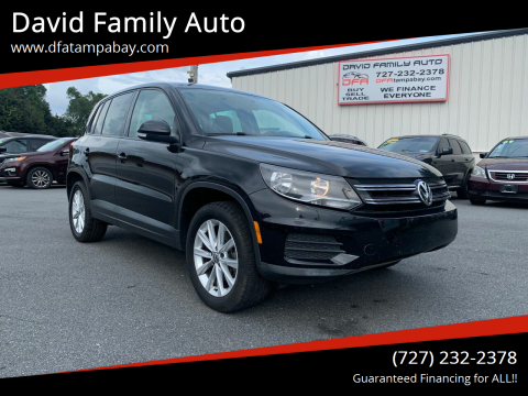 2014 Volkswagen Tiguan for sale at David Family Auto in New Port Richey FL