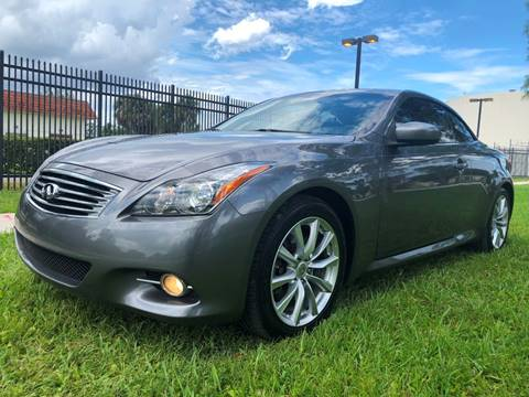 2012 Infiniti G37 Convertible for sale in Plantation, FL