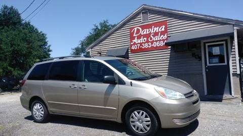 2004 Toyota Sienna for sale at DAVINA AUTO SALES in Casselberry FL
