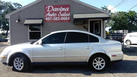 2004 Volkswagen Passat for sale at DAVINA AUTO SALES in Orlando FL