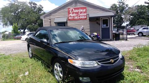 2001 Toyota Camry Solara for sale at DAVINA AUTO SALES in Orlando FL