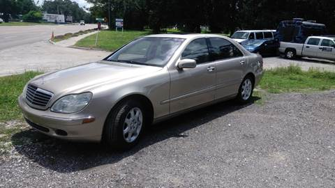 2002 Mercedes-Benz S-Class for sale at DAVINA AUTO SALES in Casselberry FL