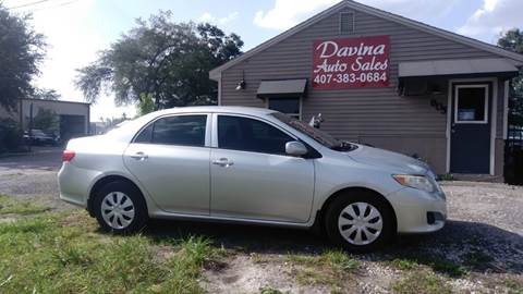 2009 Toyota Corolla for sale at DAVINA AUTO SALES in Orlando FL