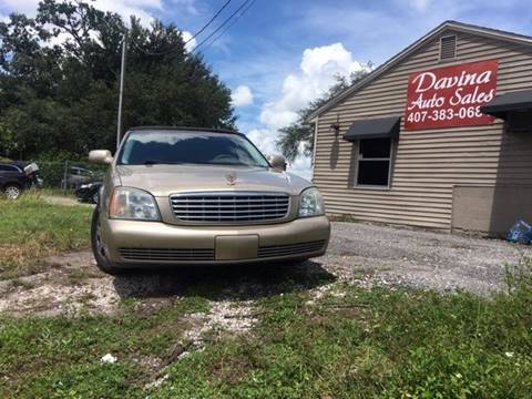 2005 Cadillac DeVille for sale at DAVINA AUTO SALES in Orlando FL