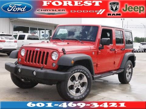 2017 Jeep Wrangler Unlimited for sale in Forest, MS