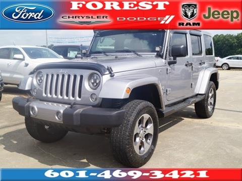 2016 Jeep Wrangler Unlimited for sale in Forest, MS