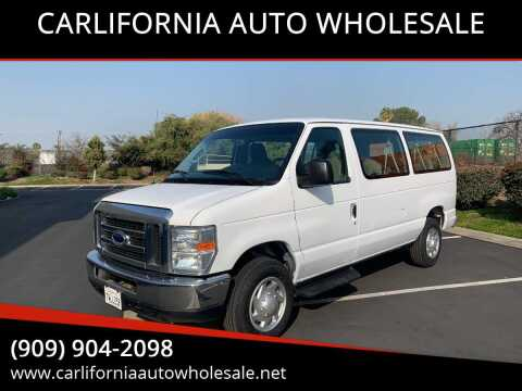2014 Ford E-Series Wagon E-350 SD XLT for sale at CARLIFORNIA AUTO WHOLESALE in San Bernardino CA