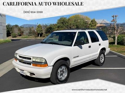 2004 Chevrolet Blazer LS for sale at CARLIFORNIA AUTO WHOLESALE in San Bernardino CA