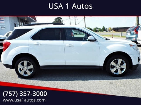 2013 Chevrolet Equinox for sale at USA 1 Autos in Smithfield VA