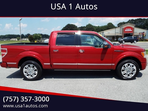2010 Ford F-150 for sale at USA 1 Autos in Smithfield VA