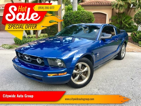 2006 Ford Mustang for sale at Citywide Auto Group LLC in Pompano Beach FL