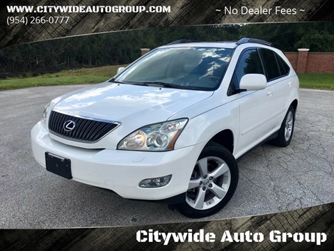 2007 Lexus RX 350 for sale at Citywide Auto Group LLC in Pompano Beach FL