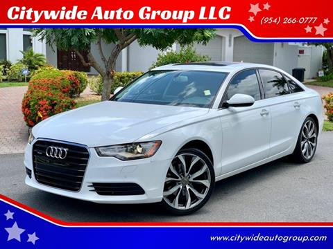 2013 Audi A6 for sale at Citywide Auto Group LLC in Pompano Beach FL
