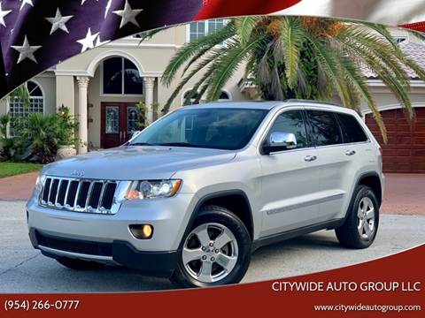 2013 Jeep Grand Cherokee for sale at Citywide Auto Group LLC in Pompano Beach FL