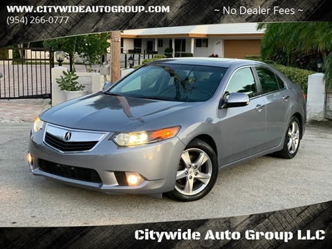 2012 Acura TSX for sale at Citywide Auto Group LLC in Pompano Beach FL