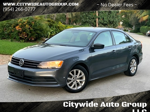 2015 Volkswagen Jetta for sale at Citywide Auto Group LLC in Pompano Beach FL
