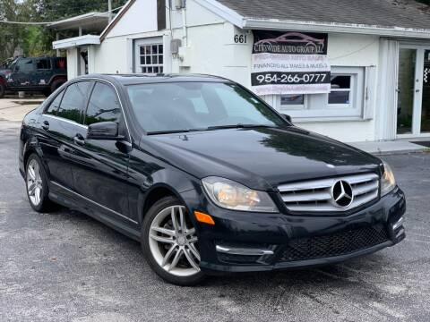 2013 Mercedes-Benz C-Class for sale at Citywide Auto Group LLC in Pompano Beach FL