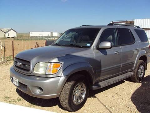 2004 Toyota Sequoia for sale at BENHAM AUTO INC in Lubbock TX