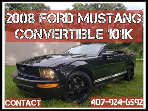 2008 Ford Mustang for sale at AFFORDABLE ONE LLC in Orlando FL