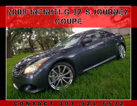2008 Infiniti G37 for sale at AFFORDABLE ONE LLC in Orlando FL